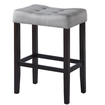 Alasdair 29.5 Bar Stool Upholstery: Gray
