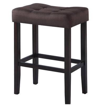Alasdair 29.5 Bar Stool Upholstery: Brown