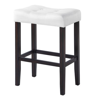 Alasdair 29.5 Bar Stool Upholstery: White