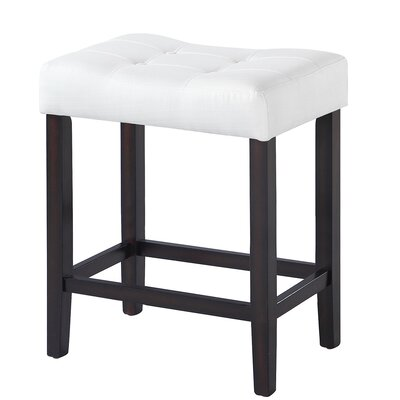 Eleanora 24.5 Bar Stool Upholstery: White