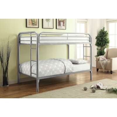 Framington Twin over Twin Bunk Bed Color: Silver