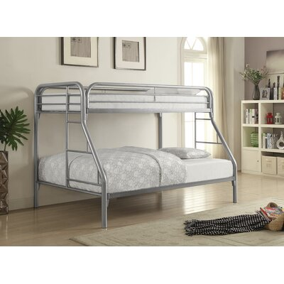 Falls City Twin over Full Bunk Bed Color: Silver
