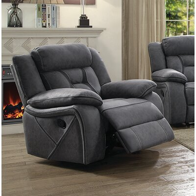 Vincenzo Glider Recliner Upholstery: Gray
