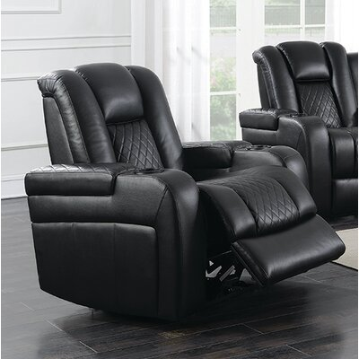 Sameer Power Recliner Upholstery: Black