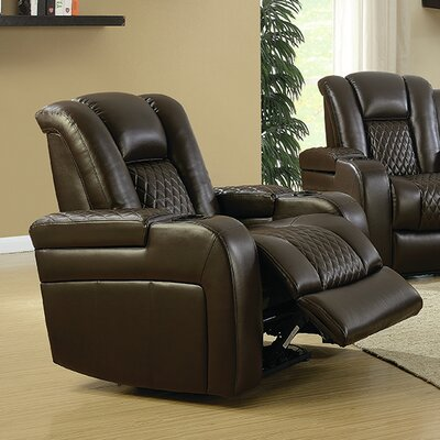 Sameer Power Recliner Upholstery: Brown