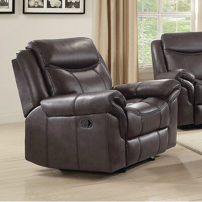 Kristeen Glider Recliner Upholstery: Brown