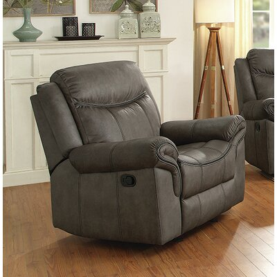 Kristeen Glider Recliner Upholstery: Two Tone Gray