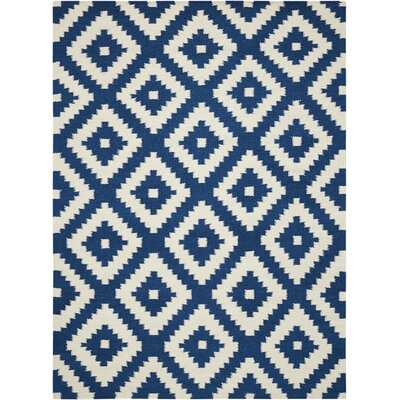 Blue/Gray Area Rug Rug Size: Rectangle 66 x 96