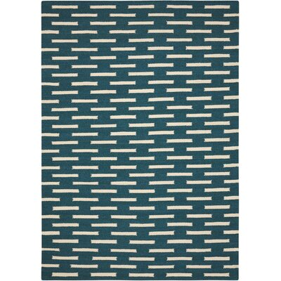 Teal Area Rug Rug Size: Rectangle 66 x 96