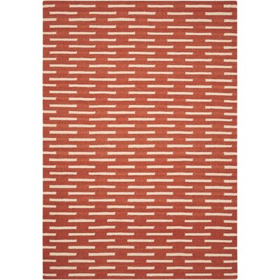 Orange Area Rug Rug Size: Rectangle 5 x 7