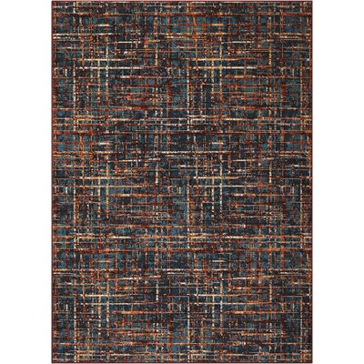 Blue/Orange Area Rug Rug Size: Rectangle 7 x 10