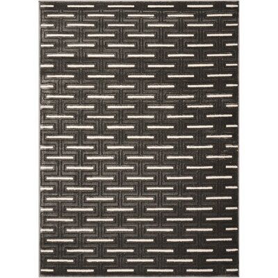 Charcoal Area Rug Rug Size: Rectangle 53 x 7