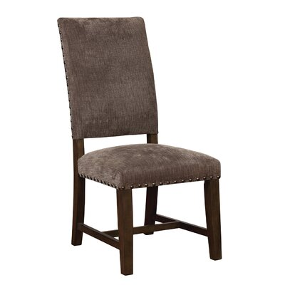 Parson Upholstered Dining Chair Upholstery Color: Dark Gray