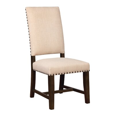 Parson Upholstered Dining Chair Upholstery Color: Beige