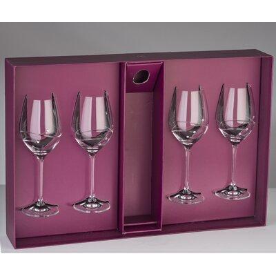 Hertzel Lead Free Crystal 12.5 oz. White Wine Glass
