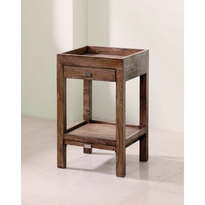 Docia End Table Wood Finish: Medium Walnut
