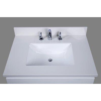 Thassos 31 Single Bathroom Vanity Top