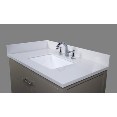 Thassos 37 Single Bathroom Vanity Top