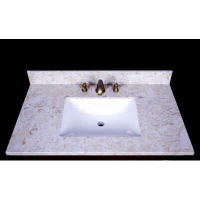 Cortona 37 Single Bathroom Vanity Top