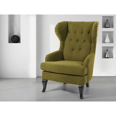 Aleshia Wingback Chair Upholstery: Olive Green