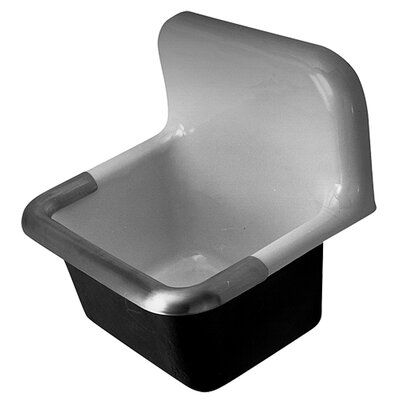 24 x 20 Single Service Sink Faucet Mount: No Drilllings