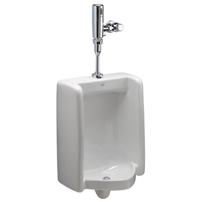 High Efficiency Urinal with Exposed Battery Flush Valve