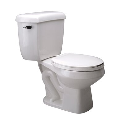 Front Pressure Assist 1.0 GPF Round Two-Piece Toilet