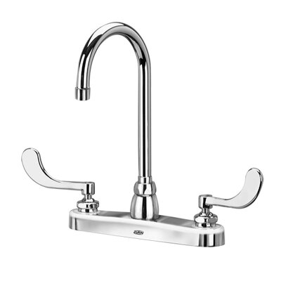 AquaSpec Double Handle Kitchen Faucet with 5.38 Gooseneck