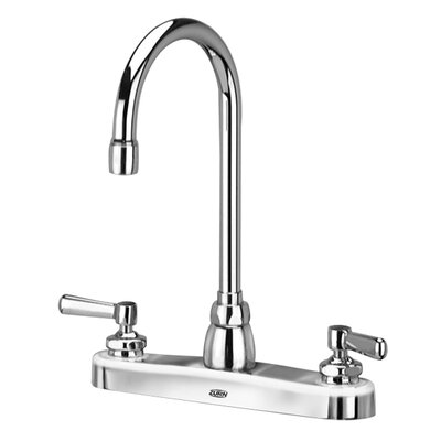 AquaSpec Double Handle Kitchen Faucet with 5.38 Gooseneck