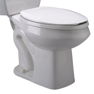 Pressure Assist 1.6 GPF Elongated Toilet Bowl