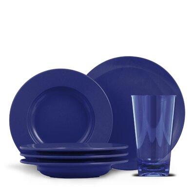 Henrich 12 Piece Melamine Bistro Set Color: Cobalt Blue