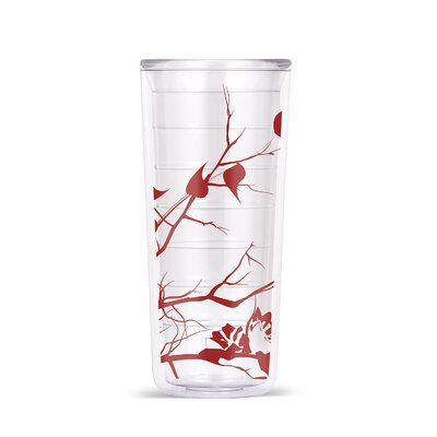 Garret Dogwood Floral 18oz Tritan Travel Tumbler Color: Merlot Red RDBT5005 42420867