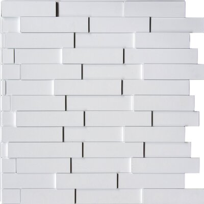 Anouk 24 L x 24 W Brick Tile in Dark Okasha/Amati Color: Snow White