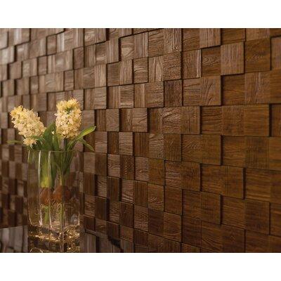 Wattsburg Cubes 24 L x 24 W Brick Tile in Dark Okasha/Wood Walnut Color: Wood Walnut