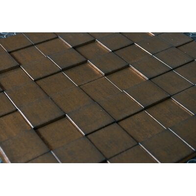 Wattsburg Cubes 24 L x 24 W Brick Tile in Dark Okasha/Wood Walnut Color: Gold Thread