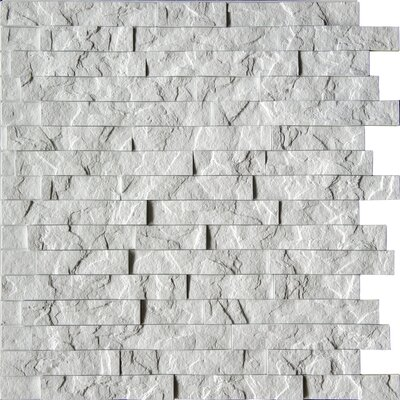 Ahner 24 x 24 Stone Tile in Sparkled Grey/Portland Cement Color: Crystal White