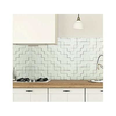 Wattsburg Cubes 24 L x 24 W Brick Tile in Dark Okasha/Wood Walnut Color: Snow White