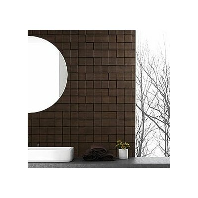 Wattsburg Cubes 24 L x 24 W Brick Tile in Dark Okasha/Wood Walnut Color: Dark Okasha