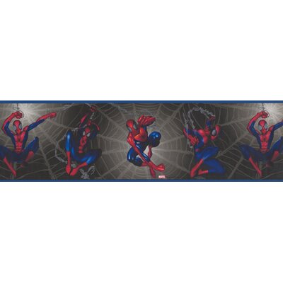 Spiderman on Web Marvel Comics Wall Border BZ9109B