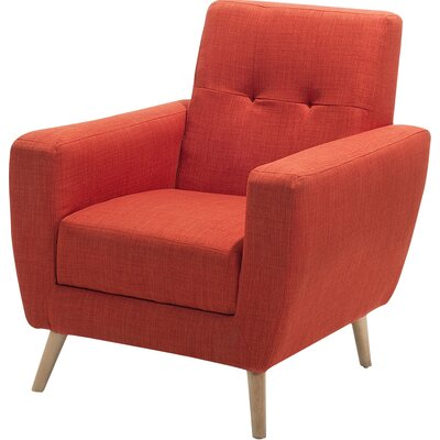 Hayden Armchair Color: Red