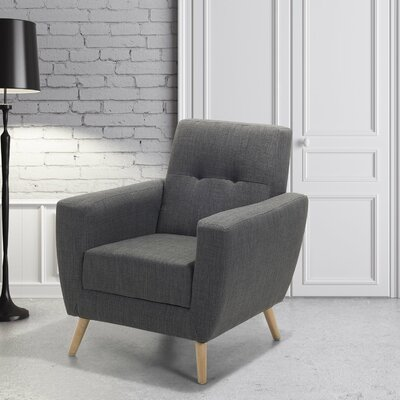 Hayden Armchair Color: Gray