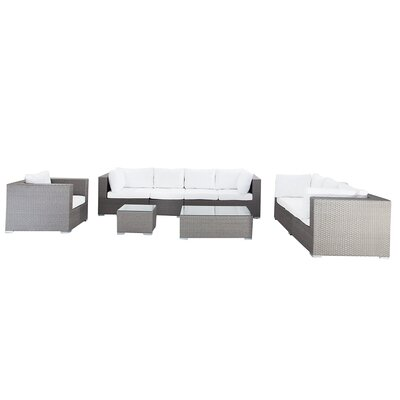 Maestro 7 Piece Sofa Set With Cushions Frame Color: Gray