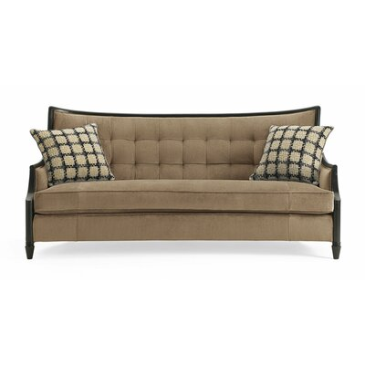 Filmore Exposed Wood Sofa Upholstery: Camel