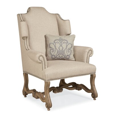 Errol Exposed Wood Wingback Chair