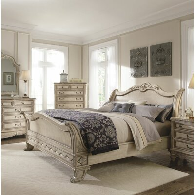 Westley Parchment Sleigh Bed Size: King