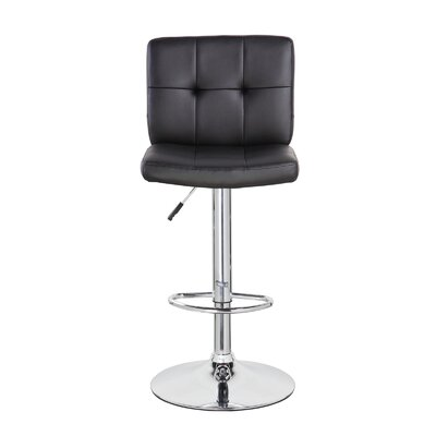 Lexington Avenue Classic Adjustable Height Swivel Bar Stool Color: Jet Black