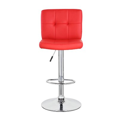 Lexington Avenue Classic Adjustable Height Swivel Bar Stool Color: Crimson Red