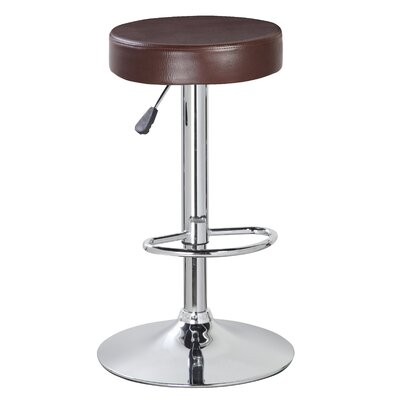 Liberty Street Adjustable Height Swivel Bar Stool Color: Mocha Brown