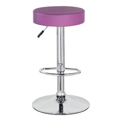 Liberty Street Adjustable Height Swivel Bar Stool Color: Orchid Purple