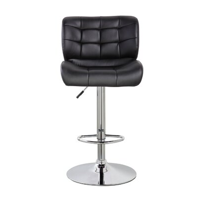 Lincolnwood Classic Adjustable Height Swivel Bar Stool Color: Jet Black